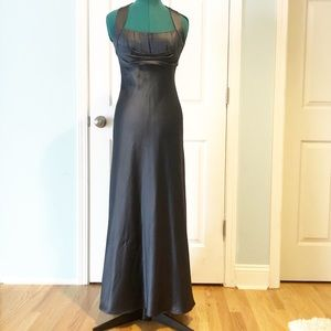 Gray satin Calvin Klein formal dress size 4 prom
